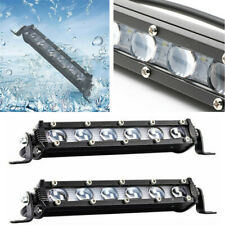 2x 8Inch 120W LED Work Light Spot Beam Bar Lamp Single Row For SUV Off road 4WD