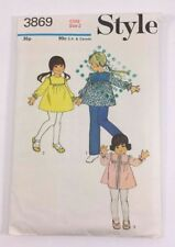Vintage 1972 Style Childs Size 2 Pattern Dress Tunic Pants