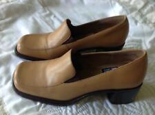 "Mootsies Tootsies Tan Leather 2 Inch Block Heels Size 7 M ""Champion"""