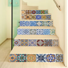6X  Moroccan Tile Sticker Decal Kitchen Bathroom Stairs Mural 100*18CM