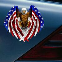 Bald Eagle USA American Flag Sticker Car Truck Laptop Window Bumper Decal Cooler