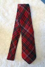 Vintage Boys Scottish Tartan 100% Wool Plaid Tie ~ Clan Grant ~ Made in Scotland