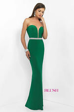 Blush Prom 11010--Color: Emerald--Size 10 --Prom Dress