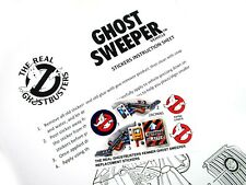 THE REAL GHOSTBUSTERS REPLACEMENT STICKERS for KENNER Ghost Sweeper  'Pre-cut'
