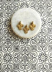 Tribal Ethnic Banjara Gypsy Brass Beads, Charms, Pendant Macramé Jewelry 20 Pcs