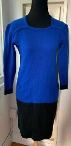 YSL Yves Saint Laurent Tricot Colorblock Sweater Dress Vintage Couture Sz M