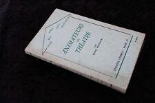 ANIMATEURS DE THEÂTRE par Robert BRASILLACH (Copeau, Jouvet, ...) - CORREA 1936