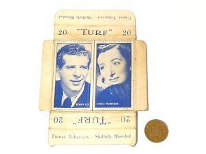 Original Carreras Turf Brand Card Benny Lee No. 19 Diana Morrison No. 29 w/Tabs
