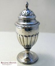 Georgian Antique Solid Silver English George III Pepper Pounce Pot Shaker Caster