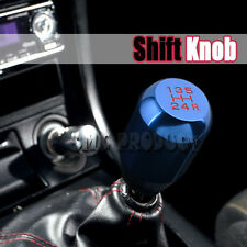 Shift Knob Blue Universal 5 Speed Manual Racing Car Gear Stick Aluminum JDM
