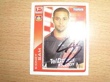 1  Topps Bundesliga Sticker 2010/11 Sidney Sam  original signiert rar !!!