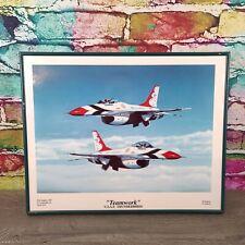 USAF Thunderbirds Fighter Jet Aviation Aircraft Wall Art Decor Framed Picture