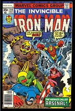 Iron Man #114 High Grade Avengers Bronze Age Marvel Comic 1978 NM-
