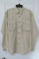 New listing All American Fisherman Mens Long Sleeve Vented Fishing Shirt Beige Medium