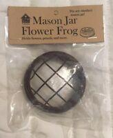 Rustic Brown Wedding Mason Jar Flower Frog Lid For Mason & Ball Jars Free Ship