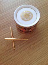 ROYAL CROWN DERBY 'Imari Toy Drum & Sticks' Excellent Condition c1999