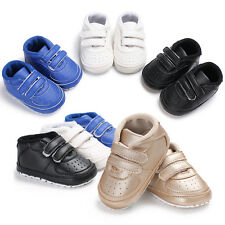 Newborn Infant Baby Boys Crib Shoes Toddler Sneakers Pre Walker Trainers 0-18 M