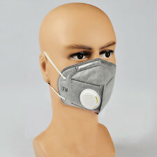 2PCs Grey Disposable Mouth Mask Comfy Earloop Outdoor Anti-Dust Non-Woven Masks