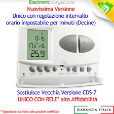 CRONOTERMOSTATO DIGITALE SETTIMANALE PROGRAMMABILE CDS-7 CALDAIA TERMOSTATO