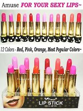 Amuse Red, Pink, Orange Lipstick Sets - 12 Colors of Most Popular Shades!