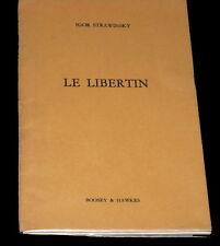 le libertin livret seul Auden & Kallman 1951 Strawinsky