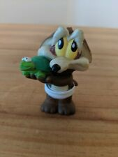 Vintage Warner Brothers 1998 Baby Wiley E. Coyote in Diaper Holding a Turtle