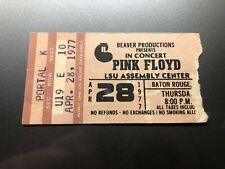 PINK FLOYD Concert Ticket Stub April 28, 1977 LSU ASSEMBLY CENTER BATON ROUGE LA