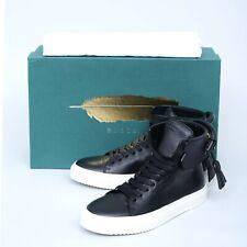 NIB $725 BUSCEMI Womens 125MM Black White Leather High-Top Sneaker Shoes 37 7