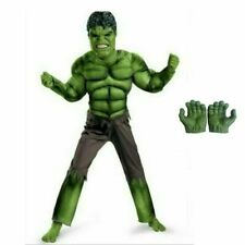 JUNGEN KINDER Deluxe Hulk Kostüm+maske Rächer Halloween Cosplay Party Karneval