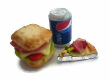 Sandwich Pizza Pepsi Can Dollhouse Miniatures Bakery Fast Food