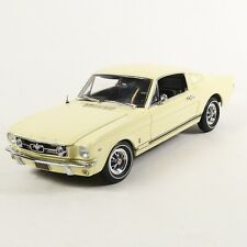 Authentics 1965 Light Yellow Ford Mustang GT 2+2 Fastback 1:18 w/ Case
