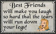 (Best Friends)  WALL DECOR, COUNTRY, DISTRESSED, RUSTIC, HARD WOOD, SIGN, PLAQUE