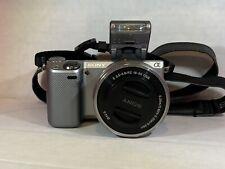 Sony Alpha NEX-5T 16.1MP Digital Camera - Silver (Kit w/ E PZ OSS 16-50mm Lens)
