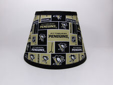 Pittsburgh Penguins NHL Black Gold  Fabric Lamp Shade Lampshade Handmade