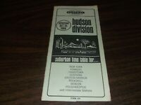 OCTOBER 1966 NEW YORK CENTRAL FORM 105 HUDSON DIVISION PUBLIC TIMETABLE