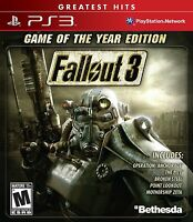 NEW Fallout 3 (Game of the Year Edition) Playstation 3