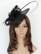 New Church Derby Cocktail Sinamay Fascinator Hat w headband 3070 Black usa