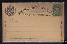 Mexico 2c Postal Stationery Postcard 1884, NM #2
