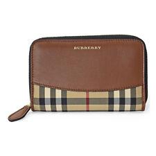 Burberry Marston Horseferry Check Zip Around Wallet - Tan
