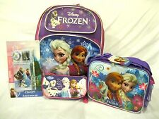 """FROZEN 16"""" BACKPACK,FROZEN LUNCHBOX,PENCIL CASE,AND 4 PC. STATIONARY SET-NEW!"""