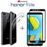 COVER per Huawei Honor 9 Lite CUSTODIA TPU + PELLICOLA VETRO TEMPERATO 3D CURVO