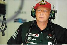 Niki Lauda SIGNED 12x8 F1 Jaguar Team Principal Portrait , 2002 GP Season