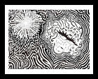 """All Original Art - Black and White Abstract Lines and Designs """"Short Circuit"""""""