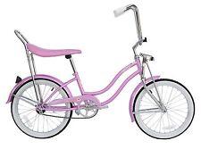 """Micargi 20"""" Lowrider Beach Cruiser Bicycle Bike Low Rider Girls frame Pink"""