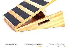 Professional Wooden Slant Board, Adjustable Incline Board and Calf Stretcher,.