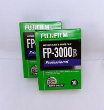 2 RARE FUJI FUJIFILM FP-3000B B/W Instant Film