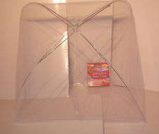 2 X COLLAPSIBLE FOOD COVER UMBRELLA CAKE BBQ Fly Inset NET