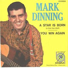 MARK DINNING--PICTURE SLEEVE ONLY--(A STAR IS BORN)--PS--PIC--SLV
