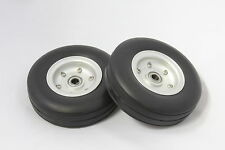 "4.0"" Aluminum Alloy Core Natural Rubber Wheels Tires for RC Airplane"