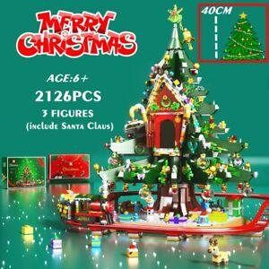 Christmas Tree Snowman Santa Claus Xmas Kids Merry Train Building Blocks Gift US
